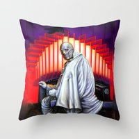 Dr. Phibes Vincent Price horror movie monsters Throw Pillow