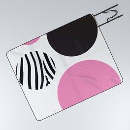 Pink zebra Picnic Blanket