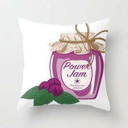Power Jam Throw Pillow