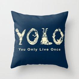 YOLO Throw Pillow