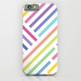 Fig. 053 In the Mood for Lines & Rainbow Stripes iPhone Case