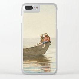 Winslow Homer - Three Boys in a Dory with Lobster Pots Clear iPhone Case