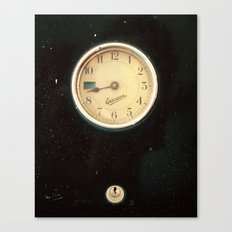 Retro Clock Canvas Print