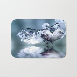 Frühlingsherz blue Bath Mat