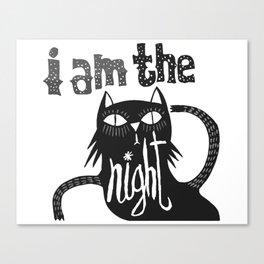 i am the night Canvas Print