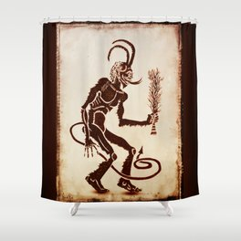 Krampus Is Coming Shower Curtain