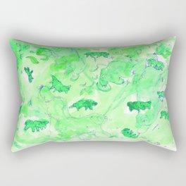 Watercolor Tardigrade Illustration Rectangular Pillow