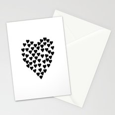 Hearts Heart Black and White Stationery Cards