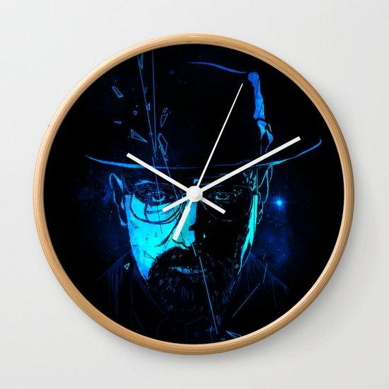 Mr. White (Crystal Blue) Wall Clock