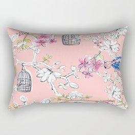 Victorian Birds garden Rectangular Pillow