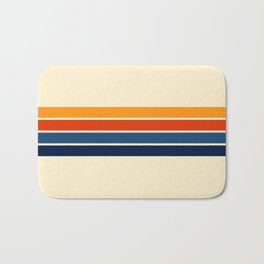 Classic Retro Stripes Bath Mat