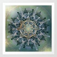 chakra Art Prints featuring Heart Chakra by brenda erickson