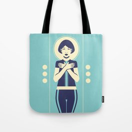Evangeline Blue Tote Bag