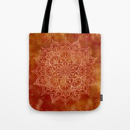 Orange Mandala Tote Bag