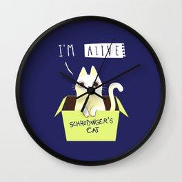 schrodinger's CAT Wall Clock