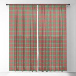 Lennox Tartan Plaid Sheer Curtain