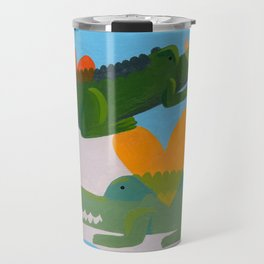 alligator love forever loop Travel Mug