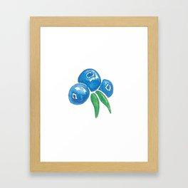 Why So Blueberry? Framed Art Print