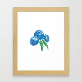 Why So Blueberry? Framed Art Print