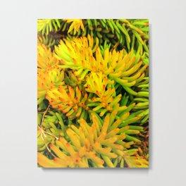 Neon Pine Metal Print