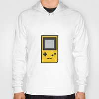 gameboy Hoodies featuring Gameboy by Andrea Ramirez
