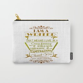 A Writer's World Carry-All Pouch