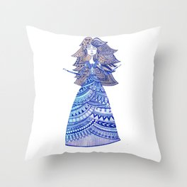 Queen of the West Kingdom Throw Pillow