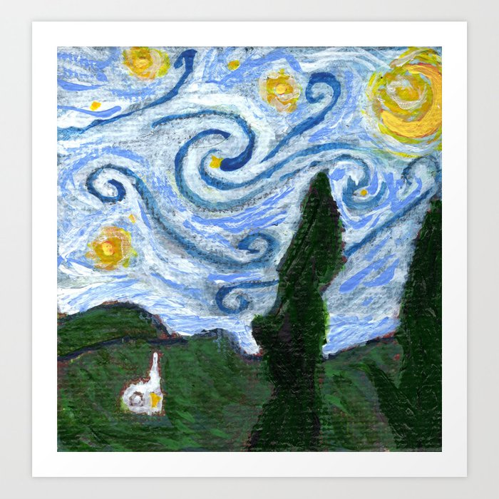 Dreaming of a Starry Night Art Print