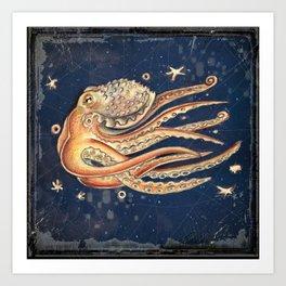 SPACEpolpo -   space octopus Art Print