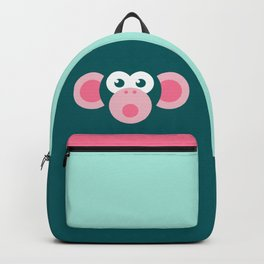 """Oops!"" Stylized Monkey - Zoo series Backpack"