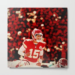 Chiefs Mahomes before the snap Metal Print