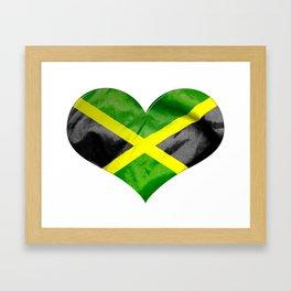 Jamaica Flag Love Heart Framed Art Print