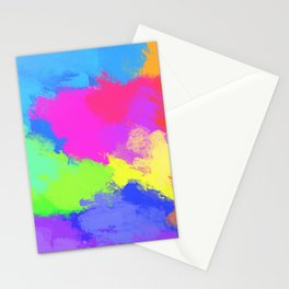 Bright Abstract Rainbow Art Stationery Cards