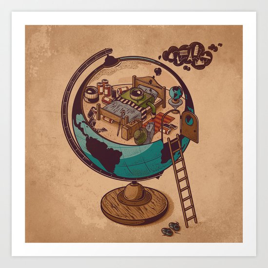 World Traveler Art Print