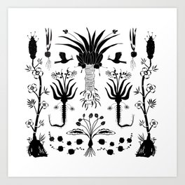 Abundance in Black Art Print
