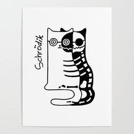 Schrodingers Cat – Quantum paradox Poster