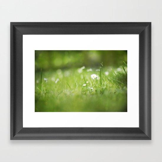 Flora calling Framed Art Print