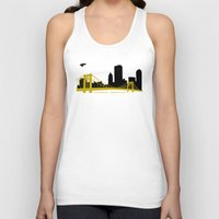 pittsburgh Tank Tops featuring Pittsburgh Browncoats by Caroline Moore
