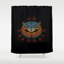 Owl Face Shower Curtain