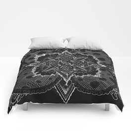 Divine Intention 5: Solar Black & White Comforters