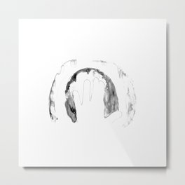Print of hand of child, cute skin texture pattern, grunge illustration Metal Print