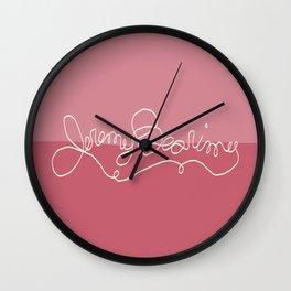 Jeremy Bearimy Pink Color Block Wall Clock