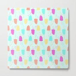 Summer Popsicles Metal Print