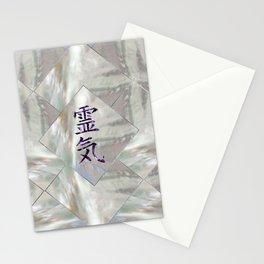 Silver Amethyst  Reiki Symbols on peal Stationery Cards