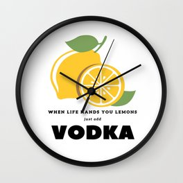 When Life Hands You Lemons Wall Clock