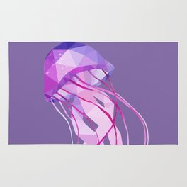 Low Poly Pelagia Noctiluca Jelly Fish. Rug