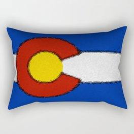 Fancy Flag: Colorado Rectangular Pillow