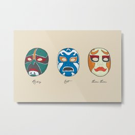 Three Ninjas Metal Print