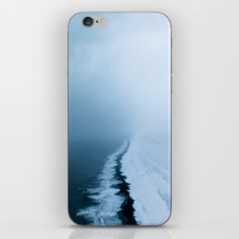 Infinite and minimal black sand beach in Iceland - Landscape Photography iPhone Skin