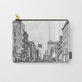 """""""Old New York"""" Pencil Drawing Carry-All Pouch"""